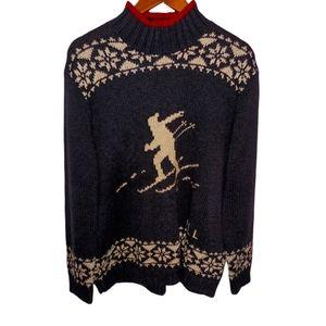 Vintage LRL Ski Sweater Navy Large